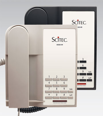 Scitec Aegis-P-09 Single Line Hotel Phone Ash 90001